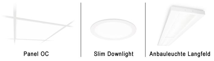 CoreLine Panel, Slim Downlight, Anbauleuchte