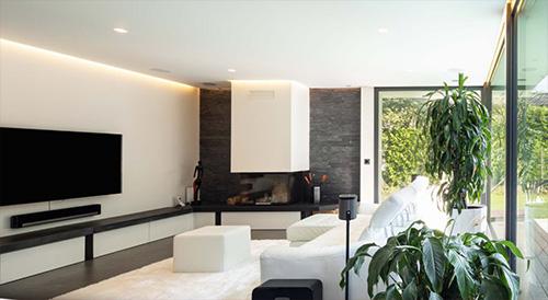 Wohnzimmer mit LED-Strips